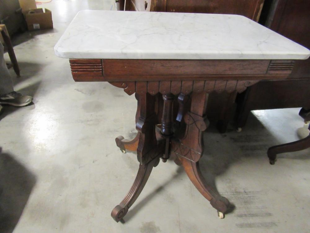 Lot 10 Of 444 Antique Marble Top Side Table