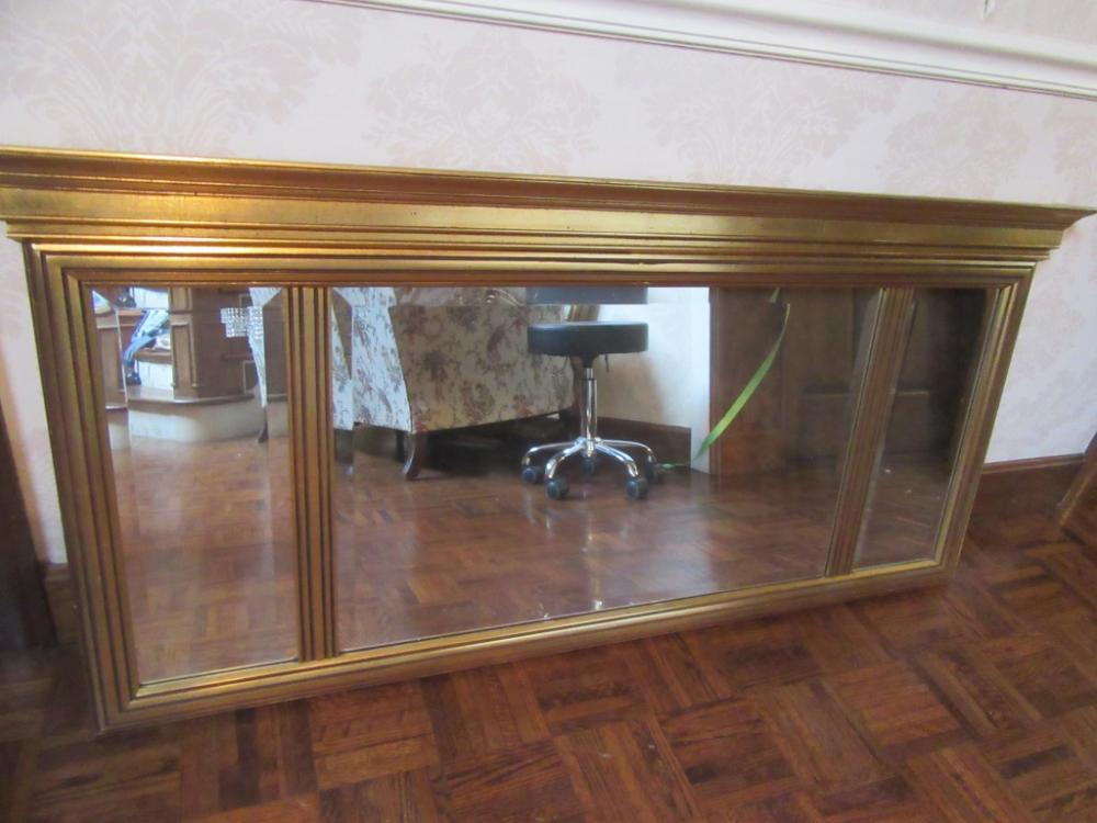 Vintage J A Olson Beveled Edged Mirror Fy