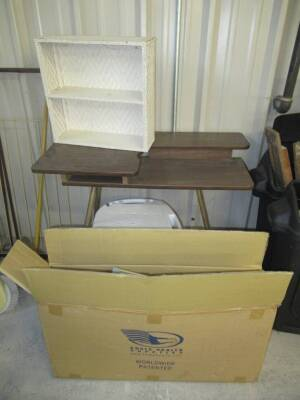 ASSORTED GROUP LOT SEWING MACHINE TABLE